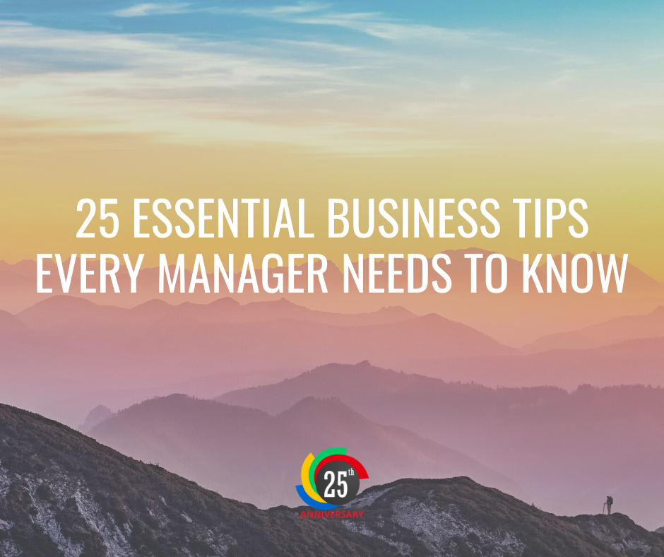 25 Essential Business Tips for Managers
